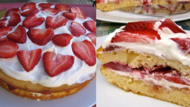 Photo of Skinny Strawberry Cake