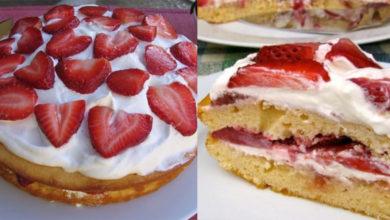 Photo of Skinny Strawberry Cake