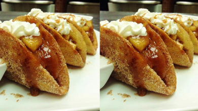 Photo of 💛 Apple Pie Tacos Recipe 🤤