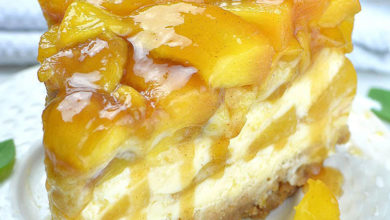Photo of 💛 Peach Cobbler Cheesecake Recipe 😍
