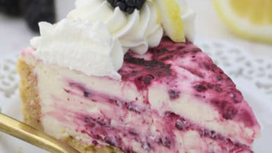 Photo of 🍋No-Bake Blackberry Lemon Cheesecake🍰