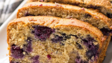 Photo of 💜Healthy Lemon Blueberry Bread🍞