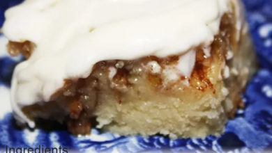 Photo of 🧡Cinnamon Roll cake with cream cheese glaze😋