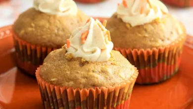 Photo of Pumpkin Muffins Filled With Spiced Marshmallow Cream