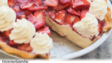 Photo of 🍓Strawberry Cream Cheese Pie😋